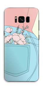 Floral Jeans Skin Galaxy S8
