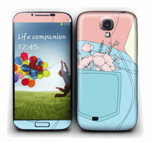 Floral Jeans Skin Galaxy S4