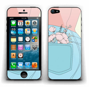 Floral Jeans Skin IPhone 5