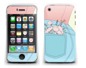 Floral Jeans Skin IPhone 3G/3GS