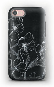 Kukkaset kuoret IPhone 7 tough