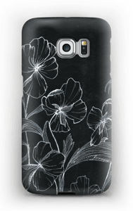 Blomsternatt deksel Galaxy S6 Edge