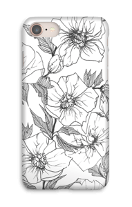 Winter Flowers Coque  IPhone 8