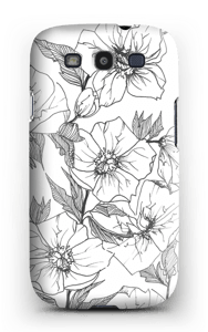 Winterblumen Handyhülle Galaxy S3