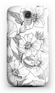 Winter Flowers Coque  Galaxy S4