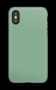 Vaaleanvihreä kuoret IPhone X tough