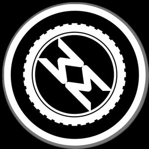 TotalMTB Logo (Black Background) sticker