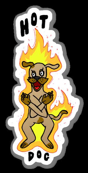 Hot Dog pegatina