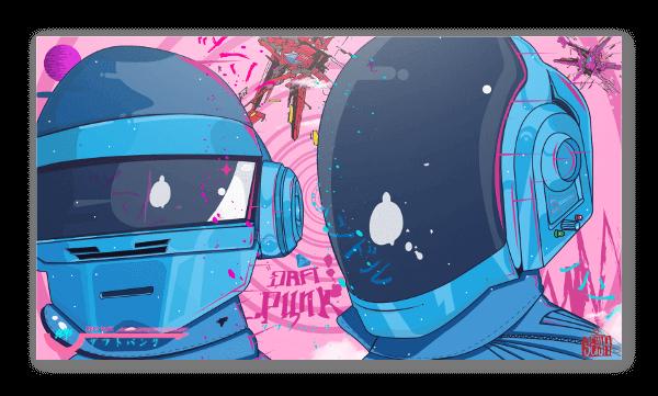 Daft Punk 2070 pegatina
