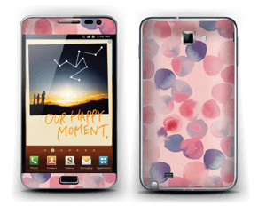 Rosa Wasserfarbe Skin Galaxy Note