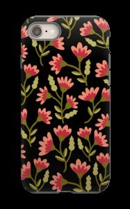 Roses sur Noir Coque  IPhone 8 tough