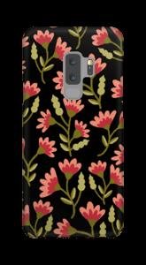 Roses sur Noir Coque  Galaxy S9 Plus