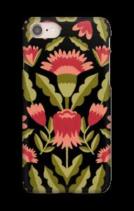 Dark flower pattern case IPhone 8
