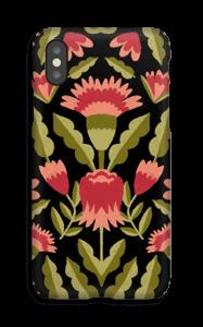 Dark flower pattern case IPhone X