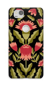 Dark flower pattern case Pixel 2