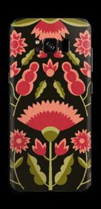 Blommor i rosa skin Galaxy S8