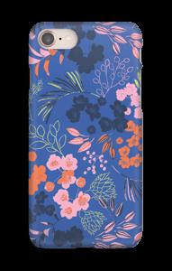 Blommor på blått skal IPhone 8