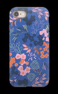 Blommor på blått skal IPhone 8 tough
