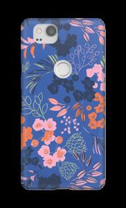 Blue flower bouquet case Pixel 2