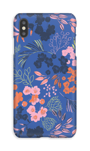 Blommor på blått skal IPhone XS Max