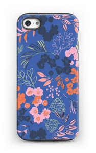 Blommor på blått skal IPhone 5/5s tough