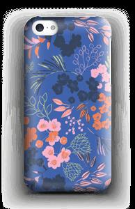 Blommor på blått skal IPhone 5c