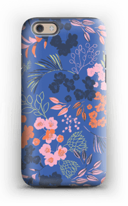 Blue flower bouquet case IPhone 6 tough