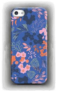Blommor på blått skal IPhone SE