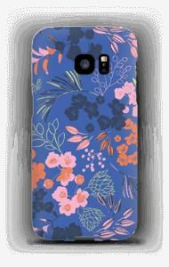 Blommor på blått skal Galaxy S7 Edge