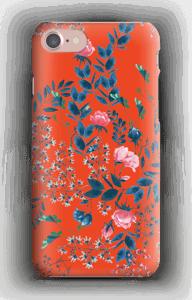 Blommor på rött skal IPhone 7