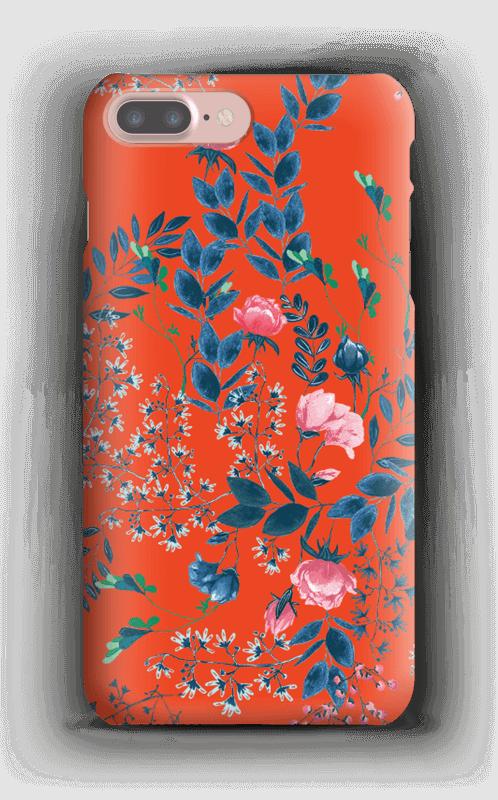 Blommor på rött skal IPhone 7 Plus a6651c7af50d1