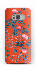 Blommor på rött skal Galaxy S8
