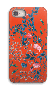 Red flower bouquet case IPhone 8 tough
