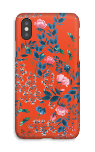 Red flower bouquet case IPhone X