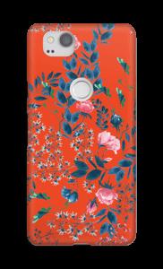 Red flower bouquet case Pixel 2