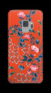 Blommor på rött skal Galaxy S9