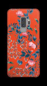 Rote Blumenwiese Handyhülle Galaxy S9 Plus