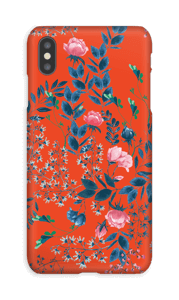 Red flower bouquet case IPhone XS Max