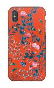 Blommor på rött skal IPhone XS Max tough