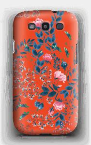 Blommor på rött skal Galaxy S3