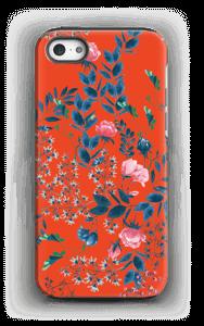 Blommor på rött skal IPhone 5/5s tough