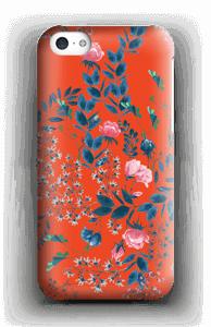 Blommor på rött skal IPhone 5c