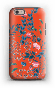 Red flower bouquet case IPhone 6 tough