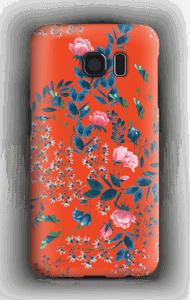 Blommor på rött skal Galaxy S6