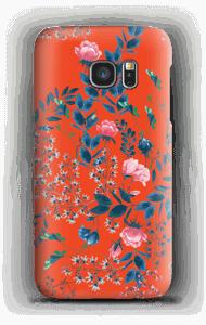 Blommor på rött skal Galaxy S7