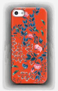 Blommor på rött skal IPhone SE