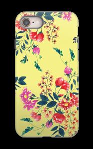 Blommor på gult skal IPhone 8 tough