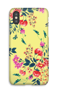 Yellow flower bouquet case IPhone X