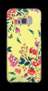 Blomster på gult deksel Galaxy S8 Plus