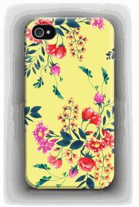 Blommor på gult skal IPhone 4/4s